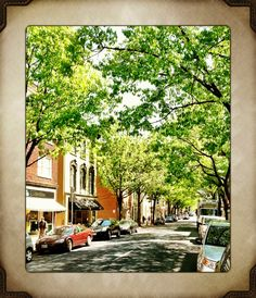 Beautiful downtown Frederick, Maryland. A place for shopping, dining and strolling.