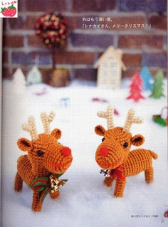 FREE Amigurumi Reindeer Crochet Pattern and Tutorial (click on right arrow to get to free chart)