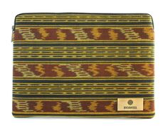 """Add a splash of yellow to your day with the 11"""" """"Adya"""" Laptop case, crafted with hand-woven Indonesian ikat from the island of Lombok.   Price: USD $65.00 Free Shipping Within Asia  $5.00 Shipping Outside Asia Macbook Pro Retina, Macbook Air 13, Lombok, Laptop Case, Ikat, Originals, Hand Weaving, Zip Around Wallet, Island"""