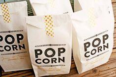 gold foil popcorn bags via 30 Best Gold Foil Ideas for Weddings Popcorn Wedding Favors, Wedding Snacks, Popcorn Favors, Popcorn Bags, Popcorn Shop, Wedding Ideas To Make, Unique Wedding Favors, Handmade Wedding, Rustic Wedding