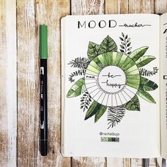 "8,821 Gostos, 116 Comentários - Rachel Doan | Rachelbujo (@rachelbujo) no Instagram: ""An update of my mood tracker, so happy cause I can maintain green days a lot more than greys.…"""