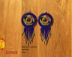 Zulu bead work handcrafted by Zulu women South Africa by ZULUArtwork Zulu Women, South Africa, Dream Catcher, Crochet Earrings, Vibrant, Orange, Beads, Creative, Artwork