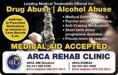 Media Tweets by Arca Durban (@ArcaDurban) | Drub abuse | Alcohol Abuse | ARCA Rehab Clinic