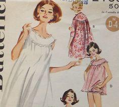 vintage nightgown pattern