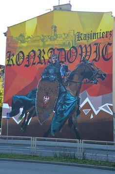 Kroniki Inowrocławskie: Nowy Mural Historyczny na Wiosnę,,,,,,, Graffiti, Street Art, Comic Books, Comics, Historia, Comic Strips, Comic Book, Cartoons, Cartoons