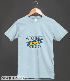 """""""Another Fail Video"""" T-Shirt Design from my Janoskians Designs! Store! click to buy! (t-shirt requests can be made here, or at nickziall.tumblr.com/ask) #Janoskians #BeauBrooks #JaiBrooks #LukeBrooks #DanielSahyounie #JamesYammouni #AnotherFailVideo"""