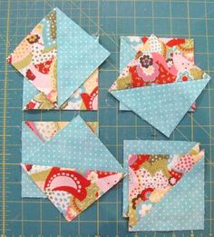 Learn how to sew 8 half square triangles at once. This tutorial is simple and great for beginners.