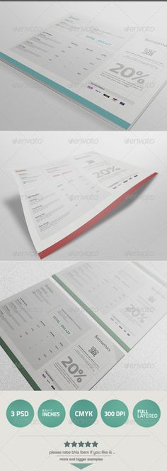 Modern Clean Invoice - print an invoice