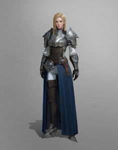 Fantasy Female Warrior, Female Armor, Female Knight, Fantasy Armor, Fantasy Girl, Fantasy Women, Inspiration Drawing, Character Design Inspiration, Fantasy Characters