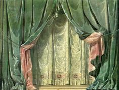 ''The Adventure of the Curtain'' - Main curtains Slytherin, Architecture Restaurant, Stage Curtains, Toy Theatre, Theatre Design, Art Inspo, Backdrops, Photography, Painting