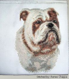 Bulldog - cross stitch pattern designed by Marv Schier. Category: Dogs.
