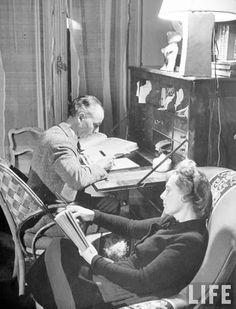 Louis Aragon et Elsa Triolet.