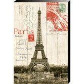 Found it at Wayfair - Eiffel Tower Postcard Painting