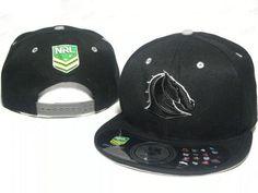 Mens Brisbane Broncos NRL Classic Team Logo Rubgy League Snapback Hat -  Black ae488ed27fff