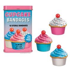 Band-aid de Cupcake - Bandagens