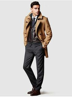 Men's Apparel: featured outfits outerwear   Banana Republic