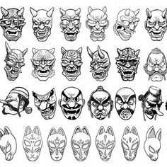 japanese tattoos galleryYou can find Japanese tattoos and more on our website. Japanese Demon Mask, Japanese Mask Tattoo, Flash Art Tattoos, Japanese Drawings, Japanese Art, Japanese Yokai, Japanese Sleeve, Tattoo Design Drawings, Tattoo Sketches
