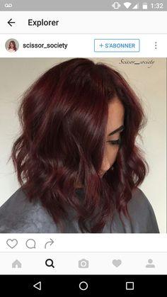 Pretty hair color - All For Hair Color Balayage Pretty Hair Color, Hair Color And Cut, Hair Colour, Hair Color Auburn, Brown Hair Colors, Dark Red Brown Hair, Dark Res Hair, Brown Auburn Hair, Pelo Color Vino