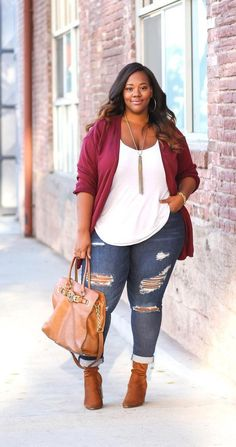 Plus Size Fashion for Women Plus Size Fall Casual Outfit - Plus Size Fall Dresses - Ideas of Plus Size Fall Dresses Plus Size Winter Outfits, Outfits Plus Size, Plus Size Fall Outfit, Womens Fashion Casual Summer, Plus Size Fashion For Women, Casual Fall Outfits, Fashion For Chubby Ladies, Look Fashion, Autumn Fashion