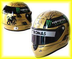 3nd European GP!  Michael Schumacher F1 Ferrari Formula1 GP Mercedes One Helmet Racing Japan Rare #f1