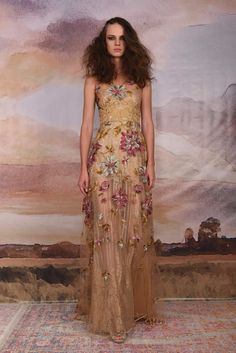 c439b8df92b Claire Pettibone Vagabond Collection 2018. Gold GownFloral Wedding ...