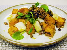 Roasted Pumpkin Salad from the kitchen of Chef Aaron Wright and The Tavern at Lark Creek in Larkspur, California.