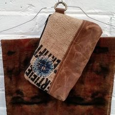 This is what happens when you ask artist @elizabethbunsen to play with your burlap coffee bean sack!  #coffee #coffeeart #coffeegram #coffeetime  #upcycling #recycling #repurposed #style  #fashionmagazine  #sustainability #csr #fairtrade #rustic #justice #Vermont #burlingtonVT #Burlington #madeintheusa #leather #totes #clutches #handbags #handmade #gifts #beautiful #travelgram #shabbychic #gobeyondthebean #elizabethbunsen #ecologia Re-post by Hold With Hope