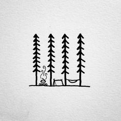 David Rollyn — A doodle of a simple camping scene.