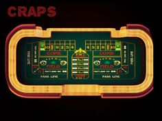 Craps play on board.All the stratergies printed on board and players play according to that board.
