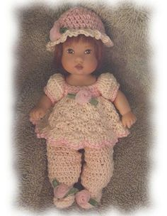 (4) Name: 'Crocheting : Creamy Romper for Ellery Kish Doll