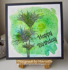 Magenta: Papyrus Card on brusho / Carte Papyrus