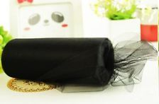 "Black Tulle Spool - 6"" x 75 yards (300')"