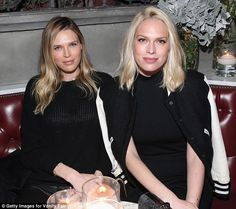 Sitting pretty: Actresses Sara and Erin Foster took a seat at Hollywood cocktail bar No Va...