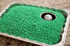 Golf Green Father's Day or Birthday Cake in Father's Day Ideas