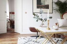 Brass & Marble Cofeetable by Magdalena Tekieli