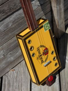 3 string cigar box guitar acoustic by OlBoyCigarBoxGuitars on Etsy, $75.00 Guitar Art, Acoustic Guitar, Cigar Box Guitar Plans, Guitars, Instruments, Blues, Homemade, Country, Diy