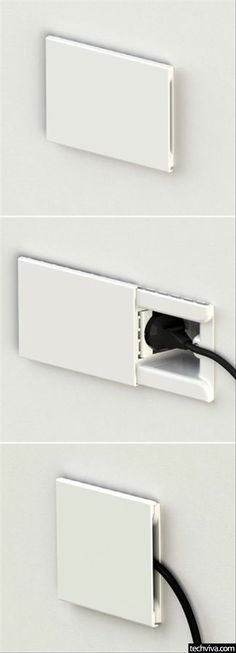 Concealed Wall Socket With Sliding Door - http://99viral.com/simple-ideas-that-are-simply-genius-part-19/