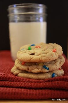 The Best M & M Cookie Recipe! So fluffly and it melts in your mouth. They are amazing. Definitely make again!