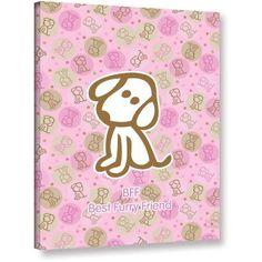 FeLittle People Best Furry Friend 2 inch Wrapped Canvas, Size: 18 x 24, Multicolor