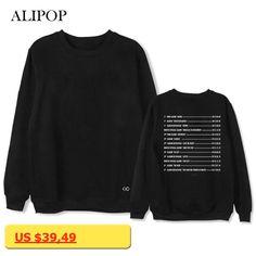 ALIPOP Kpop EXO The Elyxion Album Hoodie Hip Hop Casual Loose Hoodies Clothes Pullover Printed Long Sleeve Sweatshirts WY603