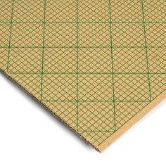 El cartón milimetrado es un cartón de poco grosor, ligero y compacto con una cuadrícula milimetrada impresa por la capa de estuco (el lado más liso). La cuadrícula es de 5 mm y el cartón es de doble capa.