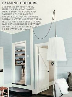 I love this colour - Baby Seal from Wattyl as shown in Home Beautiful magazine. House Paint Interior, Interior And Exterior, Interior Design, Painting Tools, House Painting, Baby Seal, Australian Homes, House Colors, Colorful Interiors