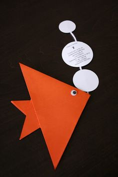 delia creates: Under The Sea Birthday Party - origami invitation