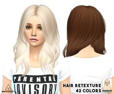 Miss Paraply: Hair retexture - Nightcrawler Turn It Up  - 42 colors • Sims 4 Downloads