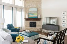 I'm loving the fresh twist on traditional in this beautiful Dallas, Texas home designed by Traci Connell Interiors and captured by photographer Michael Hunter! The turquoise and yellow woven …