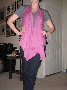 tutorial on how to turn a t-shirt into a long-in-front vest