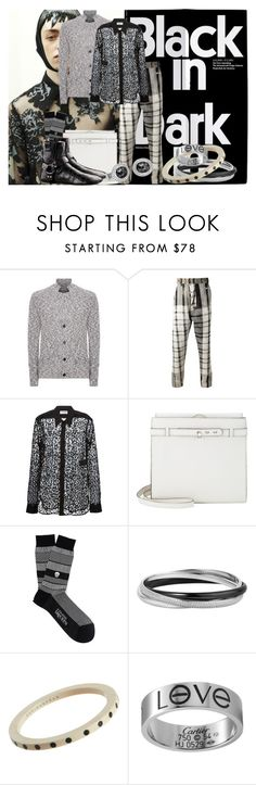 """""""Black in"""" by goosegui ❤ liked on Polyvore featuring Wooyoungmi, Vivienne Westwood, Yves Saint Laurent, Valextra, Alexander McQueen, Louis Vuitton, Monique Péan, Theo Fennell, men's fashion and menswear"""