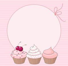 ideas for cupcakes illustration birthday Cupcake Logo, Cupcake Card, Logo Doce, Cupcake Illustration, Cake Logo Design, Birthday Background, Text Background, Paper Background, Bakery Logo