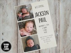 Aquarelle No Birth Announcements By Jbartyn At Mintedcom Baby - Card template free: birth announcement thank you cards