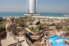Visit a Water Park Wild Waters, Water Parks, Burj Khalifa, Life Is Like, Dubai, Ocean, Spaces, Explore, Building